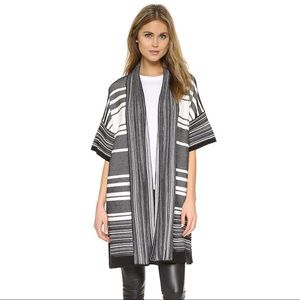 Vince multi stripe cardigan sweater size Large